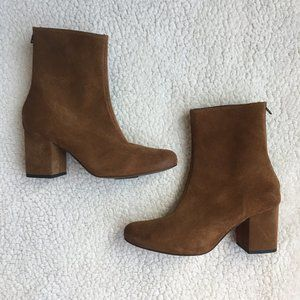 Free People Cecil Brown Suede Ankle Bootie